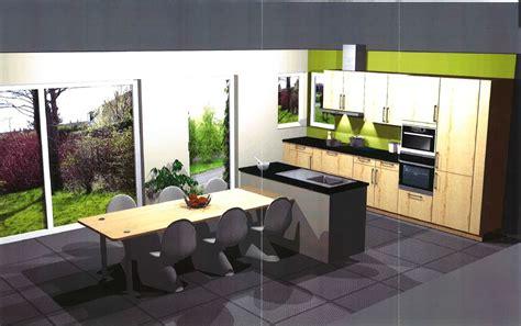 cuisine projet ilot cuisine avec table coulissante dootdadoo com
