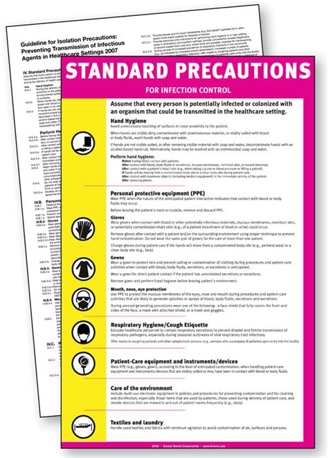 standard precautions sign english  brevis