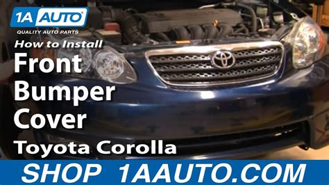 install replace front bumper cover toyota corolla