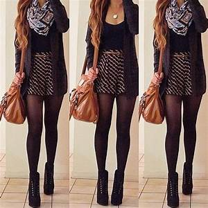 17 Best ideas about Winter Skirt Outfit on Pinterest | Winter fashion 2016 Winter style and ...