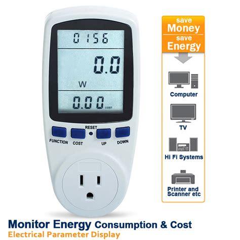 newest power meter energy monitor esocket plug in kwh watt