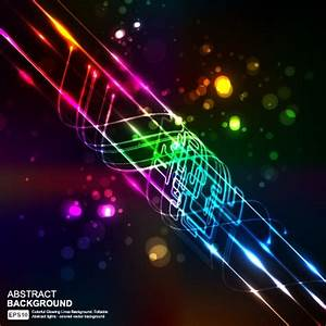 Elements of Neon abstract vector backgrounds 05