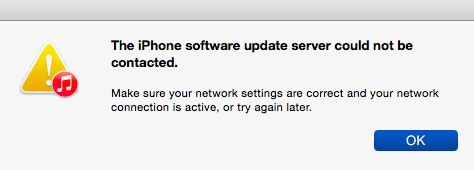 contacting the iphone software update server fix iphone software update server could not be contacted Conta