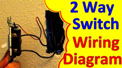 2 way light switch wiring wiagrams how to wire install