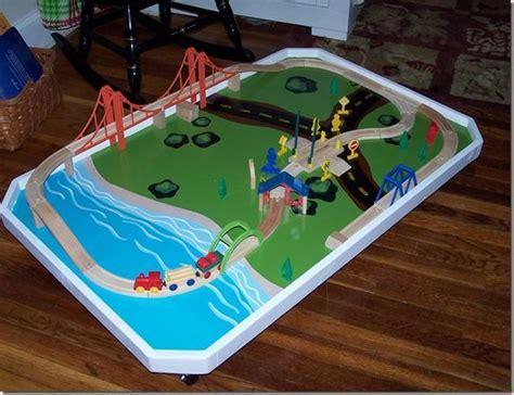 diy train table top diy train table top only on wheels so it can slide under