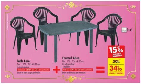 ensemble table et chaise de jardin carrefour carrefour ensemble de jardin 1 table 4 fauteuils à 34 90