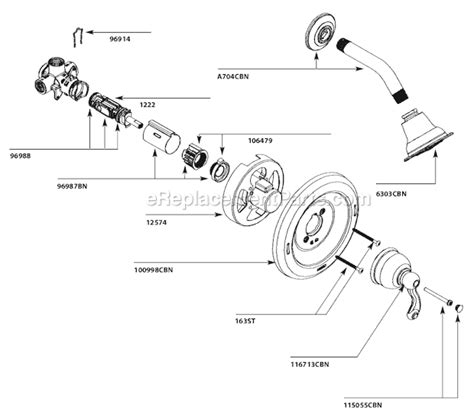 grohe kitchen faucets canada moen 82006cbn parts list and diagram ereplacementparts com
