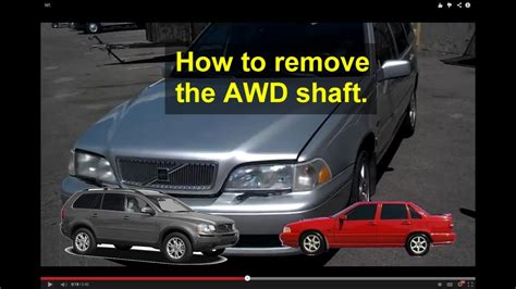 drive shaft removal information volvo awd xc cross