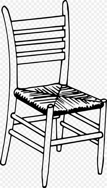 Chair Drawing Clipart Coloring Furniture Chairs Clip