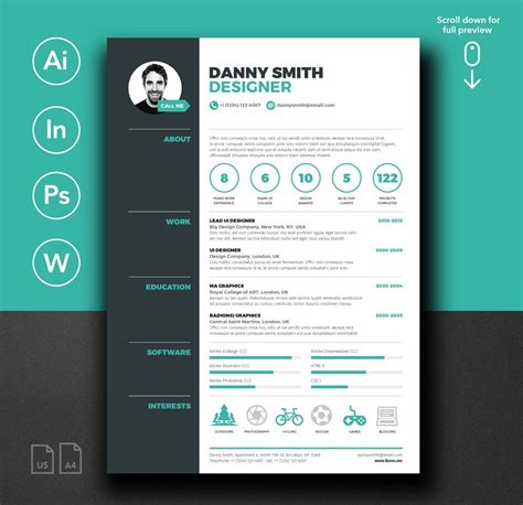 The 75 Best Free Powerpoint Templates Of 2018 Updated 75 Best Free Resume Templates Of 2018
