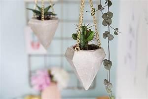 Bastel Beton Baumarkt : diy beton diamant als plant hanger f r mini kakteen ~ Michelbontemps.com Haus und Dekorationen