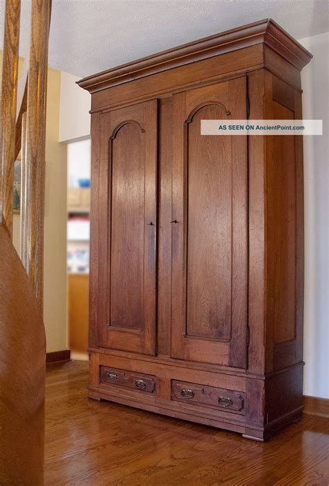 Armoire Wardrobes Antique Walnut Knock Armoire 1900 1950 Photo
