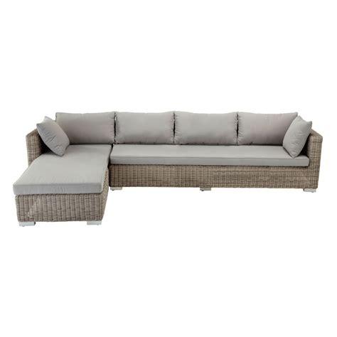 canapé d angle 4 places canapé d 39 angle de jardin 4 places en résine tressée cape