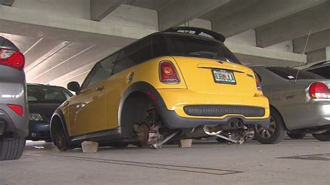 Tires Stolen From Cars At Dania Beach Tri-rail Station