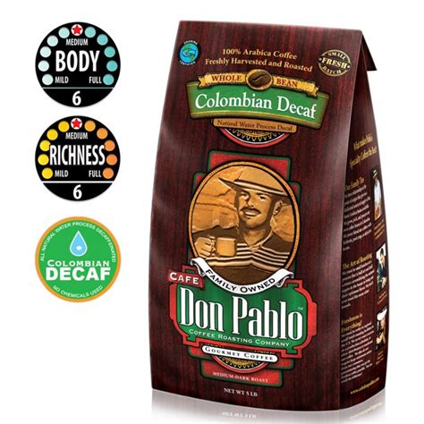 In sum, don pablo is a brand that is hard to rival by any other maker of gourmet coffee. Cafe Don Pablo Colombian Decaf Medium-Dark Roast Whole ...