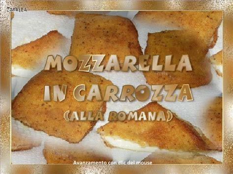 carrozza romana mozzarella in carrozza alla romana