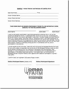 free printable liability release form sample form generic With waiver of responsibility template