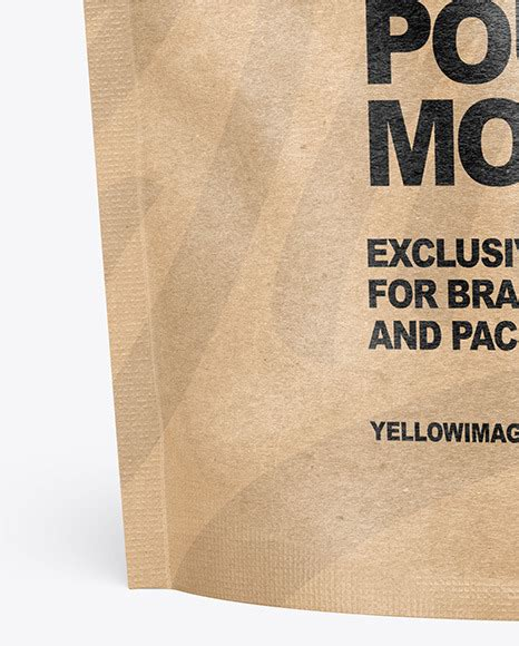 Kraft food free paper bag mockup. Kraft Paper Stand-up Pouch Mockup in Pouch Mockups on ...