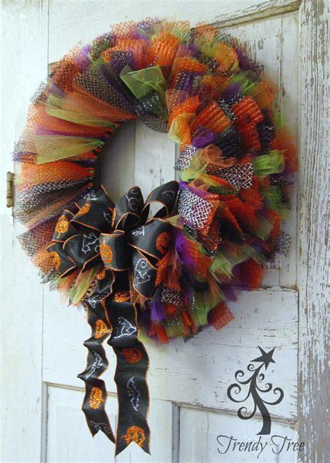 halloween tulle ribbon wreath tutorial trendy tree