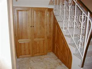 fabrication placard sur mesure sous pente agencement With porte de placard sous escalier