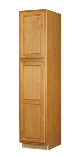 menards unfinished pantry cabinet value choice 18 quot huron oak standard 2 door utility