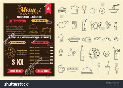 restaurant food menu design chalkboard background stock