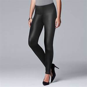 Simply Vera Vera Wang Womenu0026#39;s Faux-Leather Leggings Black | Simply vera and Products