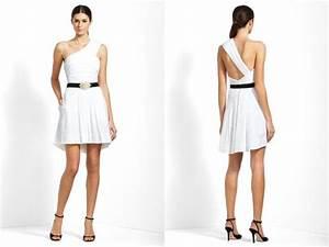 grecian inspired white wedding reception dress with black With white wedding rehearsal dress