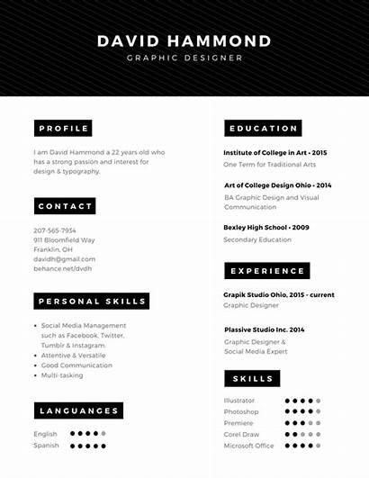 Resume Canva Cv Professional Contoh Template Curriculum