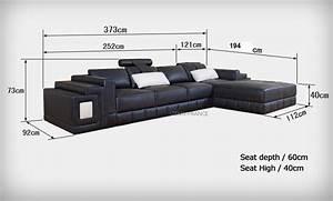 canape d angle cuir salon sassari canape d39angle en With canape angle 2m20