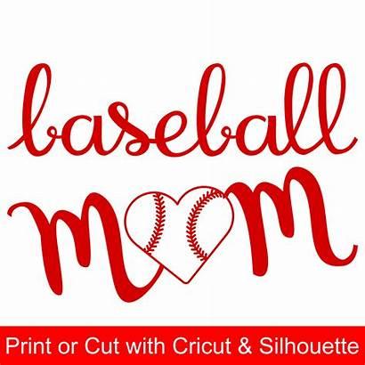 Baseball Mom Svg Heart Silhouette Cricut Shaped