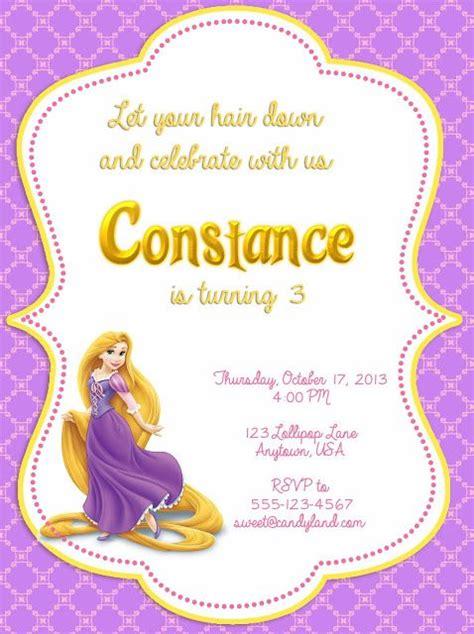 disney tangled printable invitation rapunzel invitations