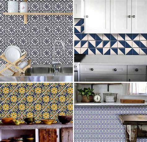 Temporary Tile Coverup Bleucoin Tile Decals  Door