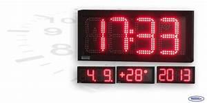 Uhr Für Aussenbereich : led uhr f r den innen und au enbereich einseitig wecl175 r es wetelco ~ Orissabook.com Haus und Dekorationen