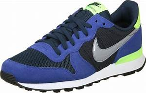 Nike Internationalist W shoes blue neon green