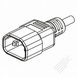 uk iec 320 sheet e c14 plug connectors 3 pin straight With wire connector plug as well waterproof electrical 2 pin wire connector