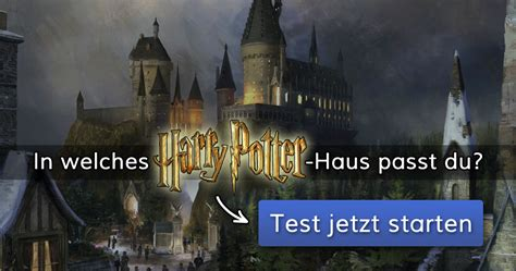welches harry potter haus passt du