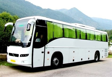 luxury bus hire delhi volvo bus  rent minibus book  india