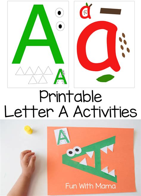 preschool alphabet game printable letter a crafts and activities 985