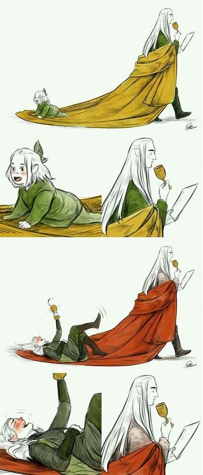 Legolas Thranduil Father Hobbit His Riding Gandalf