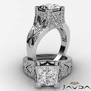 princess style engagement ring egl g vs2 14k white gold 1 7 ct ebay