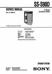 Sony Ss-s90d Service Manual