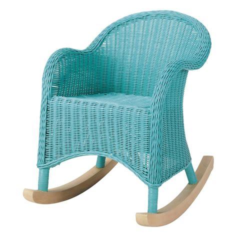 rocking chair enfant bleu ocean maisons du monde