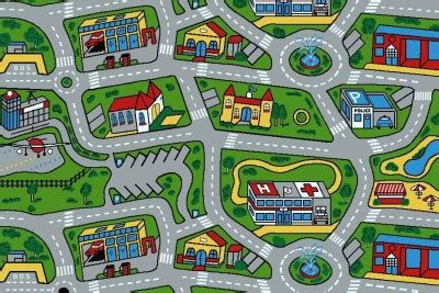 car play rug car road non slip play mat rug x large ebay 1986