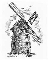 Windmill Drawing Dutch Colouring Windmills Mill Wind Ham Langport Coloring West Tower Somerset Near Stembridge Drawings England Paintingvalley sketch template