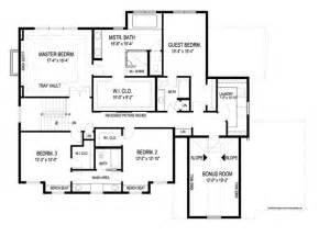 floor plan house kensington 8993 4 bedrooms and 3 baths the house designers
