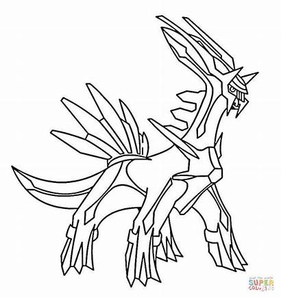 Coloring Dialga Pages Printable Drawing Paper