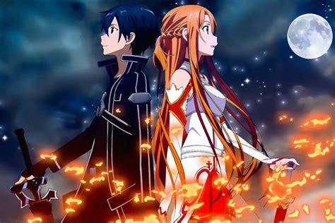 Sword Art Online Sao Kirito Asuna Anime Poster My Hot