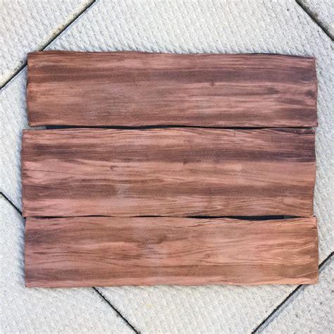fake wood grain effect foam board crafts