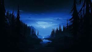 Download, 3840x2160, Wallpaper, Dark, Night, River, Forest